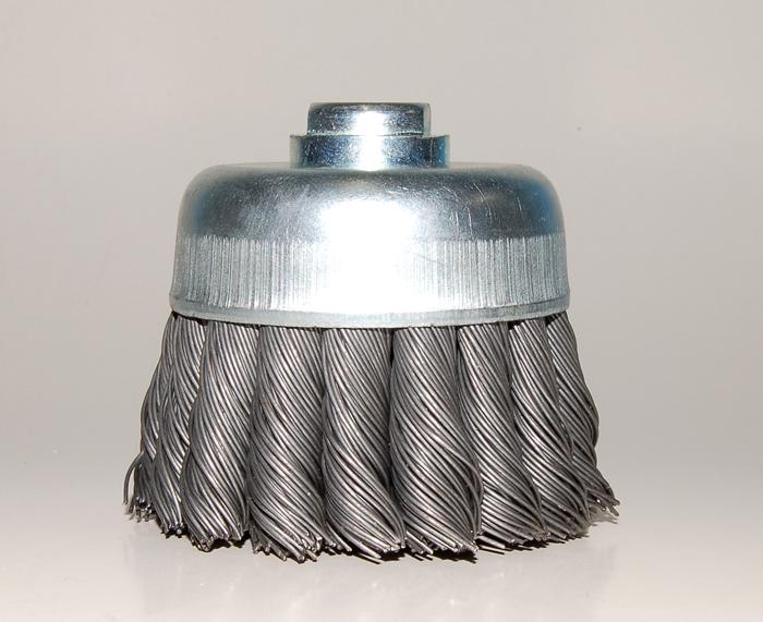 Escovas Rotativas de Aço Ondulado e Trançado Tipo Copo ref. 7500